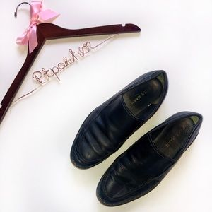 Cole Haan Lunarlon Black Leather Slip On Loafers